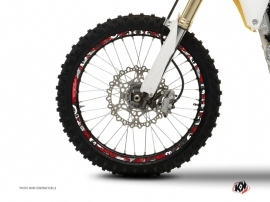 Graphic Kit Wheel decals Dirt Bike Freegun Red Grey