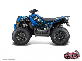 Polaris Scrambler 850-1000 XP ATV FREEGUN Graphic kit Blue