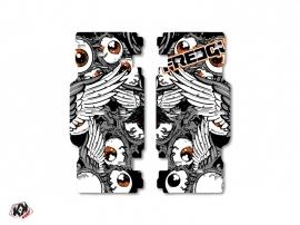 Graphic Kit Radiator guards Freegun KTM SX-SXF 2015 Grey Orange