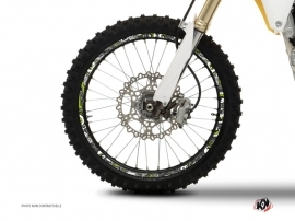 Graphic Kit Wheel decals Dirt Bike Freegun Green