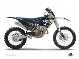 Graphic Kit Dirt Bike Halftone Husqvarna 250 FC White Blue