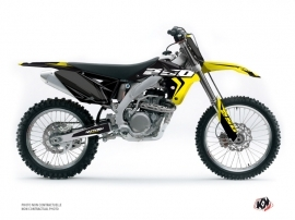 Suzuki 250 RMZ Dirt Bike HALFTONE Graphic kit Black Yellow
