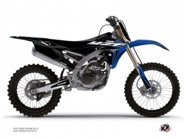 Graphic Kit Dirt Bike Halftone Yamaha 250 YZF Black Blue