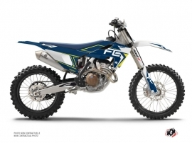 Graphic Kit Dirt Bike Halftone Husqvarna 450 FC White Blue