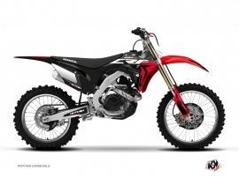 Kit Deco Dirt Bike Halftone Honda 450 CRF Black Red