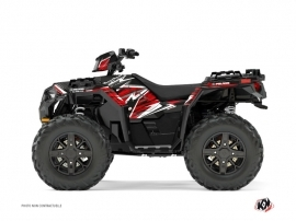 Graphic Kit ATV Jungle Polaris 1000 Sportsman XP Forest Black Red