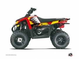Polaris Scrambler 500 ATV LAST EDITION Graphic kit Yellow