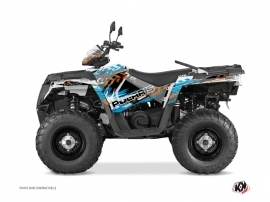 Polaris 570 Sportsman Touring ATV LIFTER Graphic kit Orange Blue