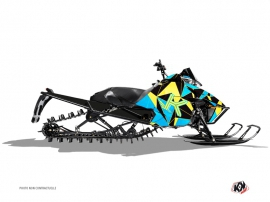 Arctic Cat Pro Climb Snowmobile Metrik Graphic Kit Blue Yellow