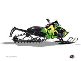 Arctic Cat Pro Climb Snowmobile Metrik Graphic Kit Green Yellow