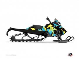 Graphic Kit Snowmobile Metrik Skidoo REV-XM Blue Yellow