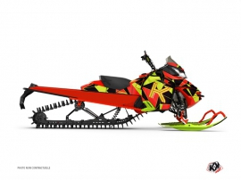 Graphic Kit Snowmobile Metrik Skidoo REV-XM Neon Red