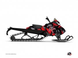 Graphic Kit Snowmobile Metrik Skidoo REV-XM Red Grey