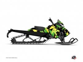 Graphic Kit Snowmobile Metrik Skidoo REV-XM Green Yellow