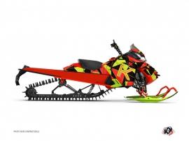 Graphic Kit Snowmobile Torrifik Skidoo REV-XP Neon Red