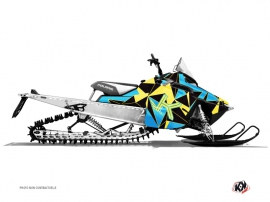 Polaris RMK Snowmobile METRIK Graphic kit Blue Yellow