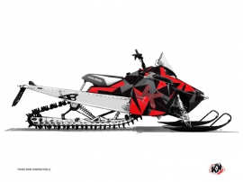 Polaris RMK Snowmobile METRIK Graphic kit Red Grey