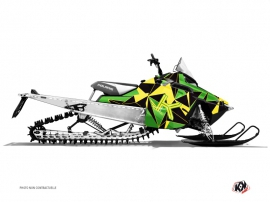 Polaris RMK Snowmobile METRIK Graphic kit Green Yellow