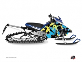 Yamaha SR Viper Snowmobile Metrik Graphic Kit Blue Yellow