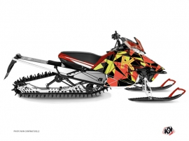 Yamaha SR Viper Snowmobile Metrik Graphic Kit Neon Red
