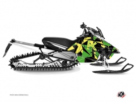 Yamaha SR Viper Snowmobile Metrik Graphic Kit Green Yellow