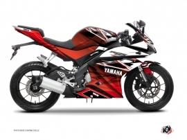 Yamaha R125 Street Bike Mission Graphic Kit Red
