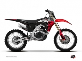 PACK PACK HONDA 250/450 CRF Dirt Bike HALFTONE Graphic kit Black Red