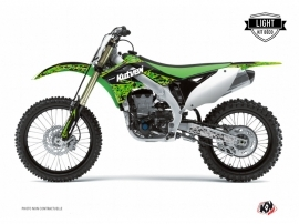 Kawasaki 250 KX Dirt Bike PREDATOR Graphic kit Black Green LIGHT