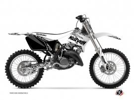 Graphic Kit Dirt Bike Predator Suzuki 125 RM White