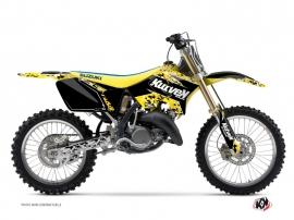 Suzuki 125 RM Dirt Bike Predator Graphic Kit Black Yellow