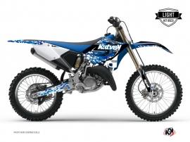 Yamaha 125 YZ Dirt Bike PREDATOR Graphic kit Blue LIGHT