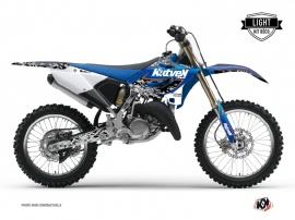 Graphic Kit Dirt Bike Predator Yamaha 250 YZ Black Blue LIGHT