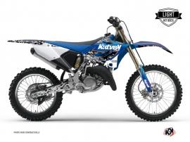 Yamaha 125 YZ Dirt Bike PREDATOR Graphic kit Black Blue LIGHT