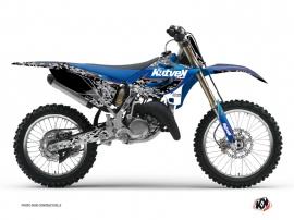 Yamaha 125 YZ Dirt Bike PREDATOR Graphic kit Black Blue
