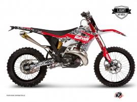 Graphic Kit Dirt Bike Predator Gasgas 125 EC Black Red LIGHT