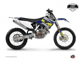 Graphic Kit Dirt Bike Predator Husqvarna TC 250 Purple Yellow LIGHT