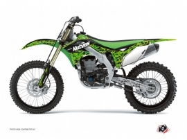 Kawasaki 250 KX Dirt Bike PREDATOR Graphic kit Black Green