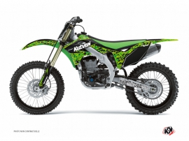 Kawasaki 250 KXF Dirt Bike Predator Graphic Kit Black Green