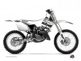 Suzuki 250 RM Dirt Bike PREDATOR Graphic kit White