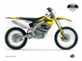 Suzuki 250 RMZ Dirt Bike PREDATOR Graphic kit Yellow LIGHT