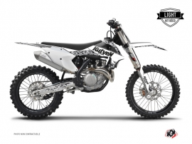 Graphic Kit Dirt Bike Predator KTM 250 SXF White LIGHT