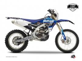 Yamaha 250 WRF Dirt Bike PREDATOR Graphic kit Black Blue LIGHT
