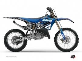 Graphic Kit Dirt Bike Predator Yamaha 250 YZ Black Blue