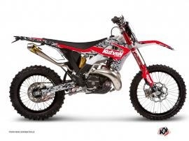 Graphic Kit Dirt Bike Predator Gasgas 300 EC Black Red