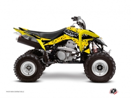 Graphic Kit ATV Predator Suzuki 400 LTZ IE Black Yellow
