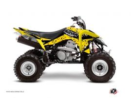 Suzuki 400 LTZ IE ATV PREDATOR Graphic kit Black Yellow