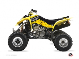 Graphic Kit ATV Predator Suzuki 400 LTZ Black Yellow