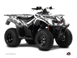 Graphic Kit ATV Predator Kymco 400 MXU White