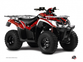 Graphic Kit ATV Predator Kymco 400 MXU Red Black