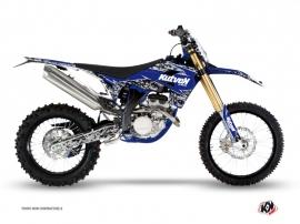 Graphic Kit Dirt Bike Predator Sherco 450 SEF R Black Blue